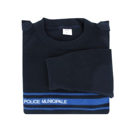PULL HIVER POLICE MUNICIPALE 50 LAINE 50 ACRYLIQUE