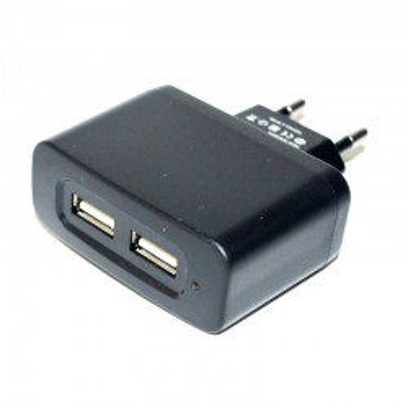 ADAPTATEUR SECTEUR PRISE DOUBLE POUR CORDON USB